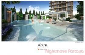 1 เตียง คอนโด สำหรับขาย ใน พัทยาใต้ - Arcadia Center Suites
