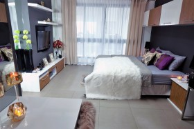 1 เตียง คอนโด สำหรับขาย ใน พระตำหนัก - The Cube